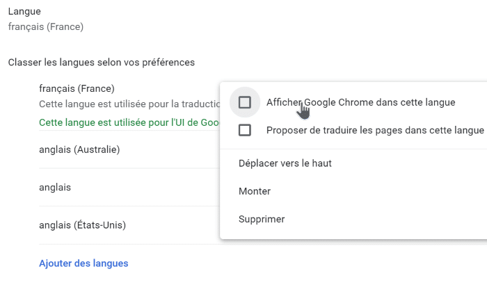 changer la langue de google chrome en anglais pic7