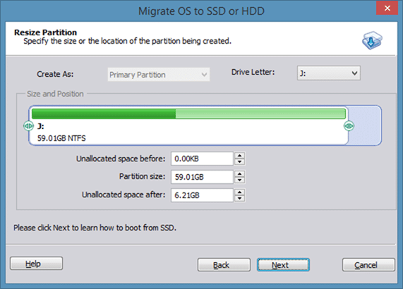 Migrer Windows 8 vers SSD à l'aide de Partition Assistant step4