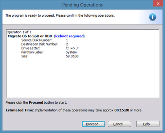 Migrer Windows 8 vers SSD à l'aide de Partition Assistant step7