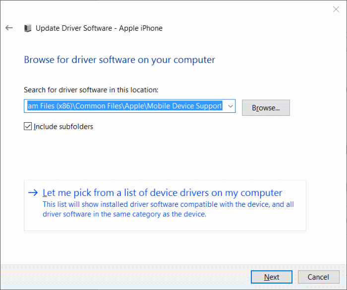 iphone non détecté dans Windows 10 step9