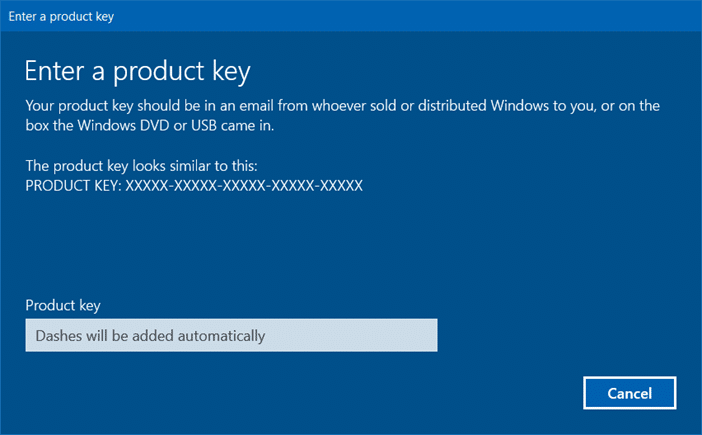 Sauvegarde d'activation de Windows 10